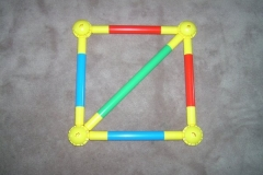 17in Square with 28in Diagonal Support